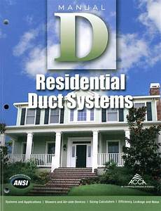 Acca Manual D  Residential Duct Systems  2016 Edition