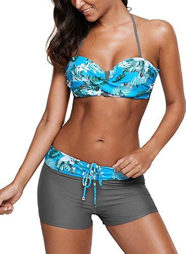 Two Pieces By Domiadream podlily womens two pieces swimwear halter push up