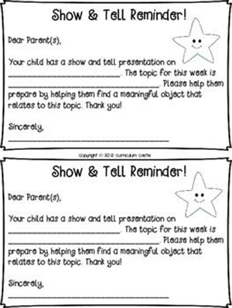 large list of show and tell ideas for letter of the week 7 best images about show and tell on language 93761
