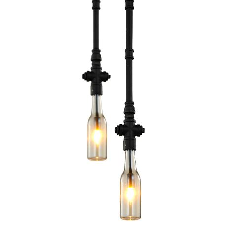 modern industrial single water pipe pendant lighting 7414