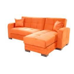 kubo rainbow orange sectional sofa by sunset With orange sectional sofa