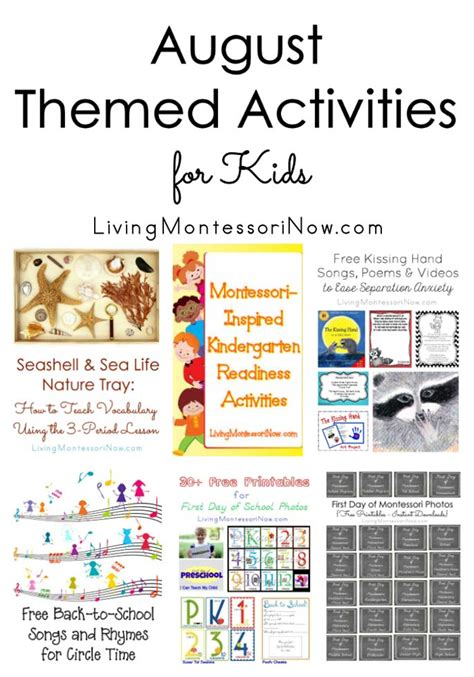 august themed activities for 237 | August Themed Activities for Kids