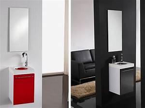 Waschtisch Für Gäste Wc : badm bel set g ste wc waschbecken waschtisch mit spiegel iris schwarz rot 35cm ebay ~ Sanjose-hotels-ca.com Haus und Dekorationen