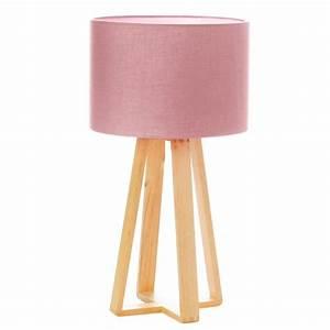 Lampe A Poser Scandinave : lampe poser bois scandinave 47cm rose ~ Teatrodelosmanantiales.com Idées de Décoration