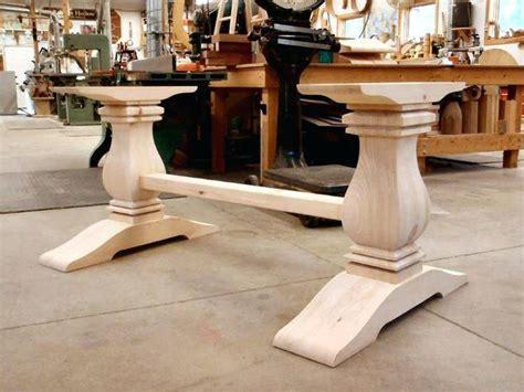 trestle table legs square trestle table base kit wood