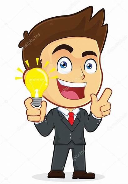 Idea Creative Businessman Clipart Illustration Character Cartoon