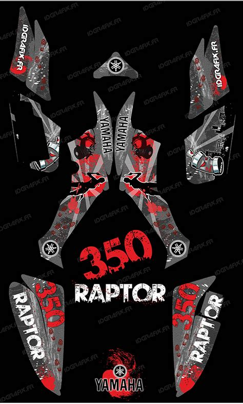 kit decoration survivor grey idgrafix yamaha 350 raptor idgrafix