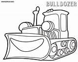 Bulldozer Coloring sketch template