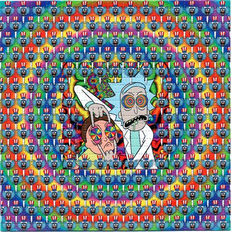 trips rick and morty lsd blotter art sheet page tabs acid