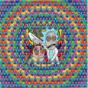 TRIPS Rick and Morty lsd BLOTTER ART sheet page tabs Acid ...