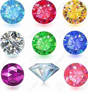 Gems clipart colourful heart - Pencil and in color gems ...