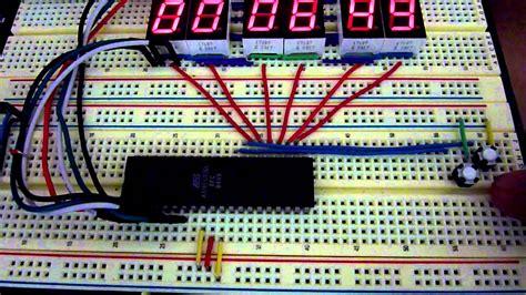 atmega avr microcontroller  segment digital clock