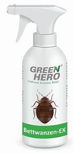 Bettwanzen Bekämpfen Spray : greenhero bettwanzen ex spray zur bettwanzenbek mpfung ~ Watch28wear.com Haus und Dekorationen