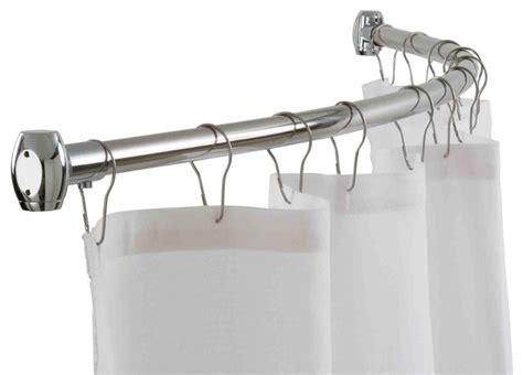 home basics chrome curved shower rod contemporary