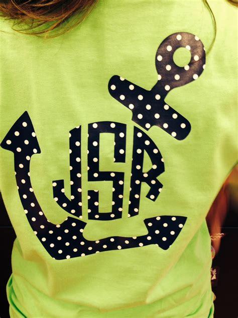 custom monogrammed anchor  shirt