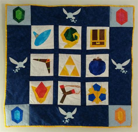 Legend Of Zelda Ocarina Of Time Wall Quilt By Zaera On