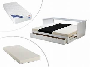 banquette lit 1 ou 2 places pas chere option matelas With tapis de marche avec canapé lit avec matelas