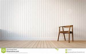 Chair And White Wall With Vertical Stripes Stock Image - Image: 56596311