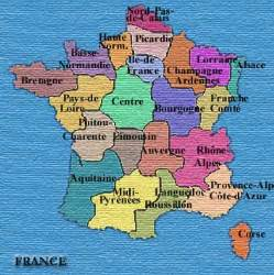French France Regions Map