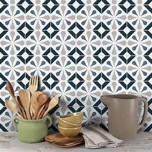 Stickers Carreaux De Ciment Cuisine : 9 stickers carreaux de ciment azulejos carmina cuisine ~ Melissatoandfro.com Idées de Décoration
