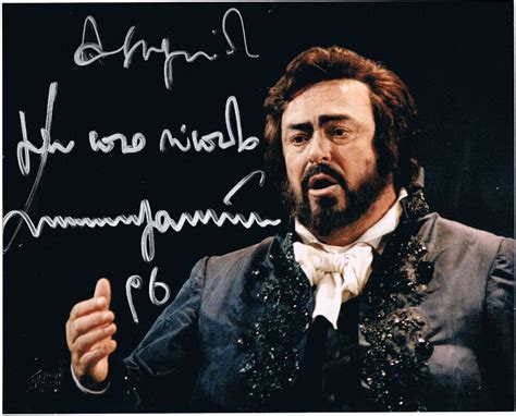 portrait of pavarotti luciano pavarotti authentic autograph from 1996 coa from