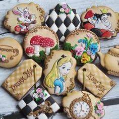 alice  wonderland cookies images decorated
