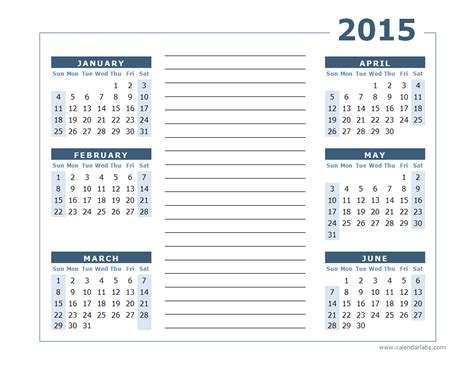 yearly calendar  page  printable templates