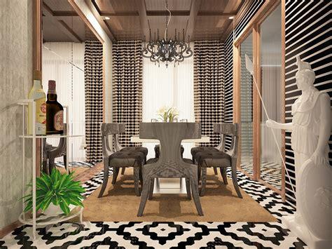 Home Plavon : Contoh Aplikasi Panel Dinding Garis Horisontal-plafon