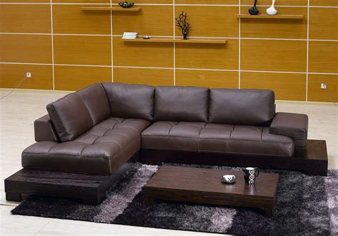 modern l shaped sofa contemporary l shaped brown leather sectional sofa with