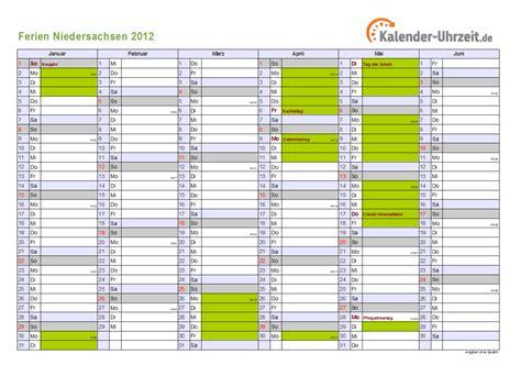 ferien niedersachsen ferienkalender zum ausdrucken