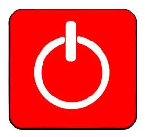 Shut Down Button Clip Art
