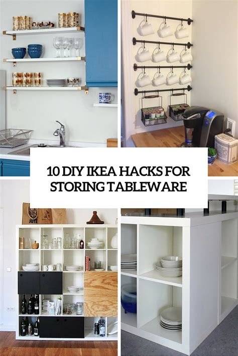 kitchen island with shelves 10 diy ikea hacks for storing tableware in your kitchen