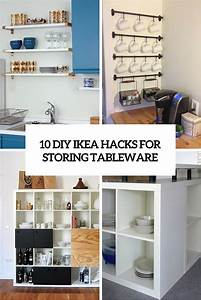 10 DIY IKEA Hacks For Storing Tableware In Your Kitchen ...