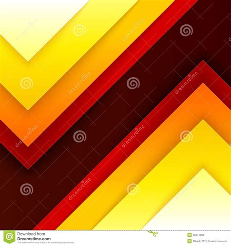 Abstract Orange Shapes by Abstract Orange And Yellow Triangle Shapes Stock