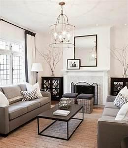 un salon en gris et blanc c39est chic voila 82 photos qui With tapis design avec canape longueur 280
