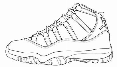 Coloring Pages Sneaker Jordan Shoes Michael Popular