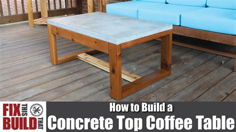 how to make a concrete table diy concrete top outdoor coffee table how to build youtube