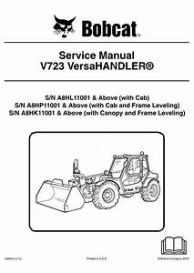 Bobcat V723 Versahandler Service Manual