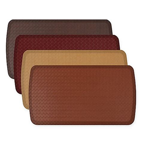 gel floor mats for kitchen gelpro elite basketweave kitchen mat bed bath beyond 6794