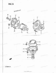 Suzuki Atv 1988 Oem Parts Diagram For Oil Pump    Fuel Pump