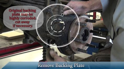 brake dust shield installation youtube