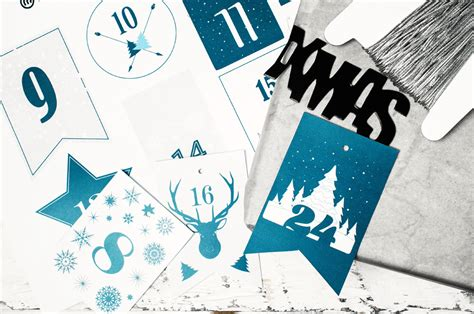 adventskalender zahlen   drucken miomodo diy blog