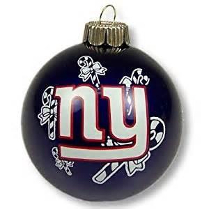 amazon com new york giants glass ball christmas ornament sports fan hanging ornaments