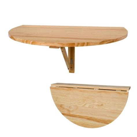 table cuisine demi lune solid wood wall mounted drop leaf table fwt10 n