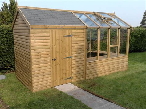 storage shed with greenhouse attached keeps all your