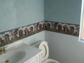bathroom borders ideas pics photos popular bathroom wallpaper border designs some matching bathroom