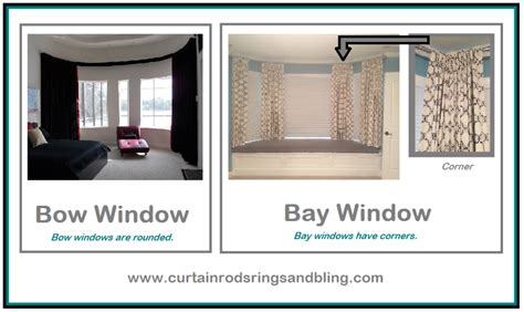 Bendable Curtain Rod For Bay Window by Difference Between Bay Or Bow Windows Bendable Rods