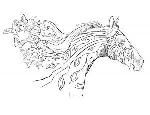 running   wind coloring pages horse coloring