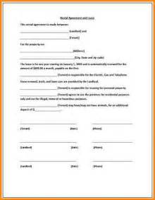Spreadsheet Form 9 Simple One Page Lease Agreement Workout Spreadsheet
