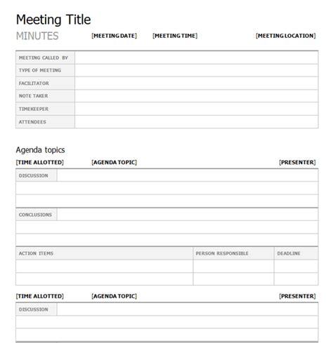Meeting Minutes Template Top 5 Free Meeting Minutes Templates Word Templates